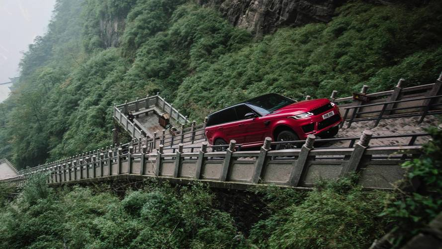 Watch The Range Rover Sport PHEV Climb 999 Steps To Heaven's Gate