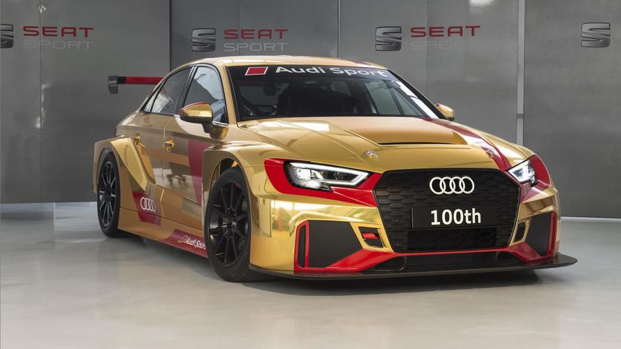 Audi RS 3 LMS - Un 100ème exemplaire en or !