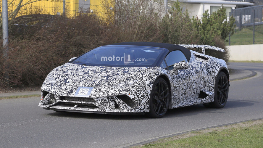 Lamborghini Huracan Performante Spyder Spied Up Close