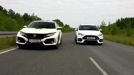 Honda Civic Type R Battles Ford Focus RS On Video