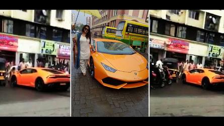 Crashes / Wrecks Indian Politician Gifts Wife Lamborghini Huracan, Promptly  Crashes Into Rickshaw