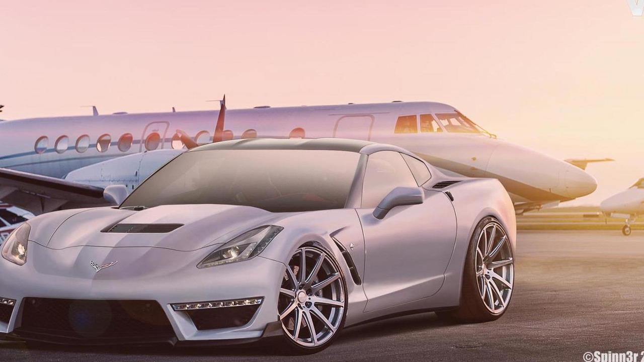 2014 Chevrolet Corvette Stingray C7 ZR1 render / SpinnerBG
