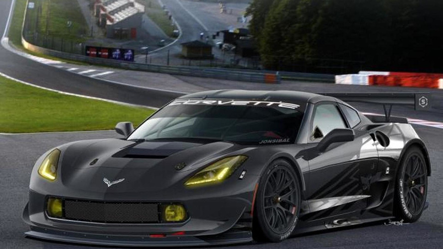 2014 Chevrolet Corvette C7R rendered by Jon Sibal