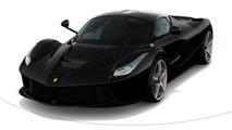 LaFerrari in Nero black, color configurator screenshot 800