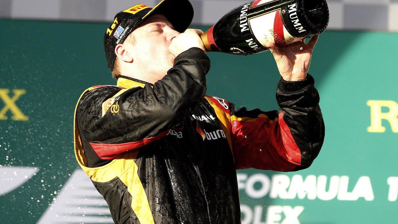 Kimi Raikkonen, Australian Grand Prix podium 17.03.2013