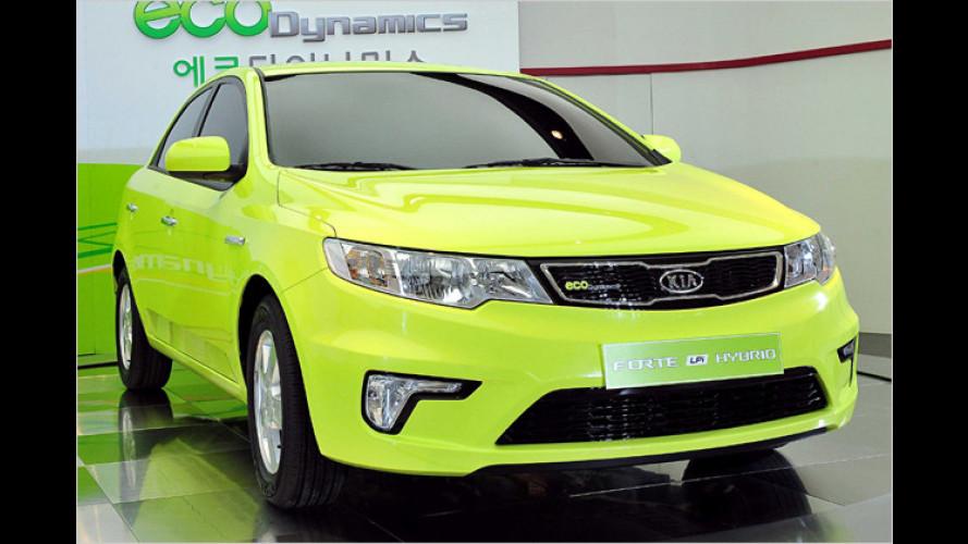 Kia zeigt erstes Serien-Hybrid mit Lithium-Polymer-Batterien