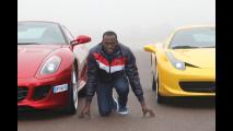Usain Bolt alla guida di Ferrari