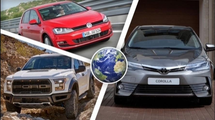 Le 100 auto più vendute del mondo
