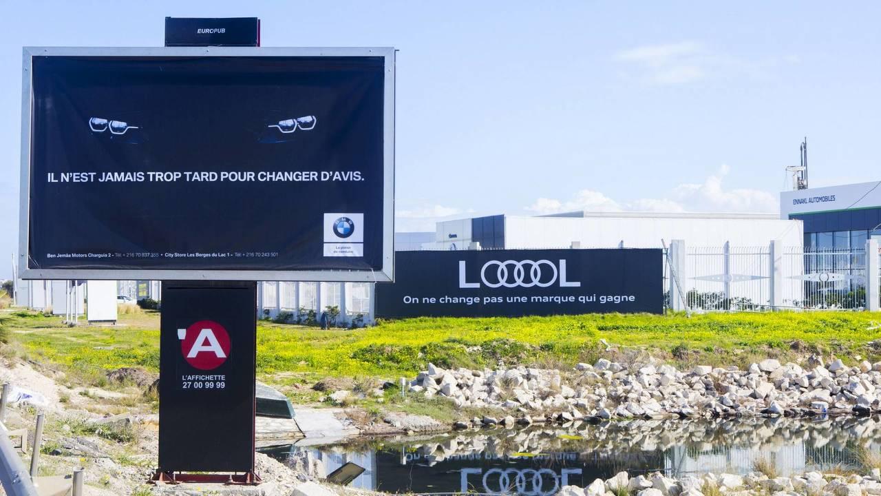 BMW and Audi billboards in Tunisia