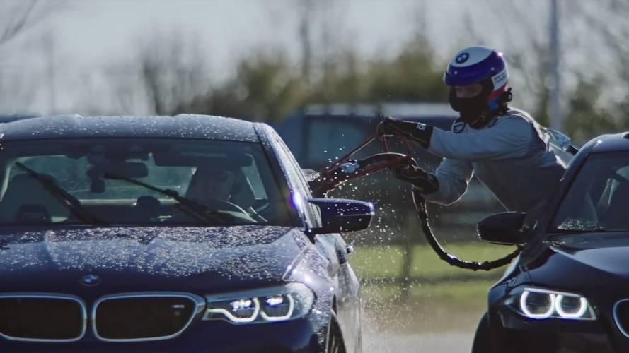 BMW M5 dünyanın en uzun drift rekorunu kırdı!