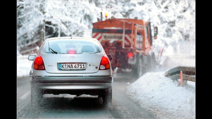 Winterreifenpflicht: Bußgeld-Hitliste für falsche Bereifung