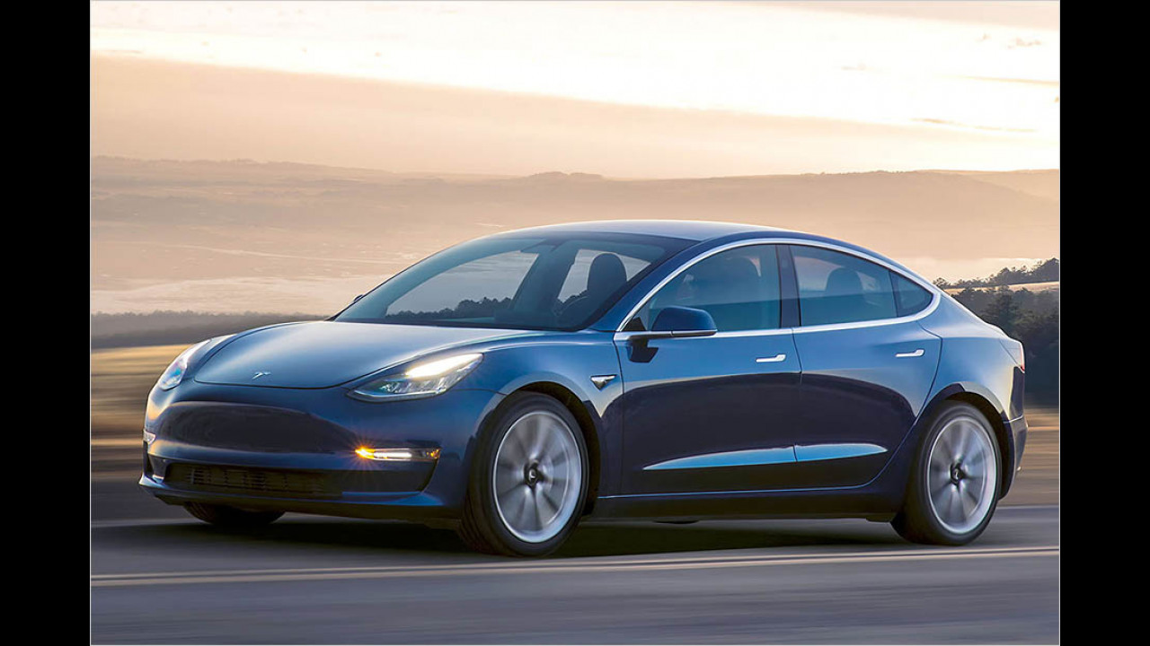 Tesla Model 3: ca. 350 km