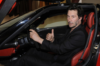 Keanu Reeves Was Absolutely Thrilled to Visit the Ferrari Factory