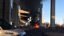 Lambo burns after crash in downtown Toronto
