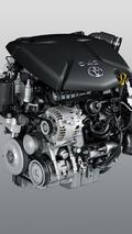 BMW 1.6 diesel engine inside Toyota Verso