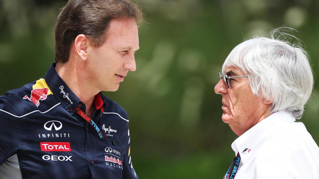 Christian Horner with Bernie Ecclestone 21.04.2013 Bahrain Grand Prix