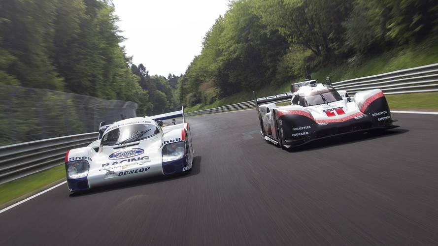 Porsche 956 C ve 919 Hybrid Evo Nürburgring'de turluyor