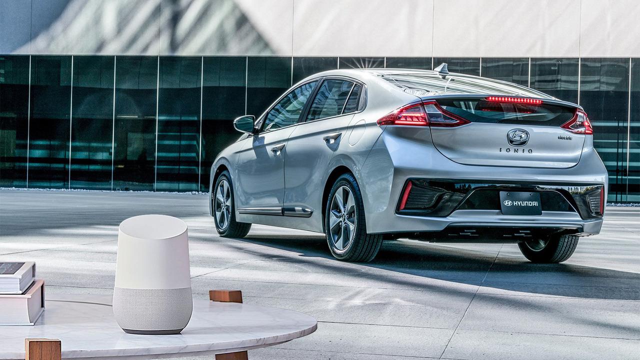 Hyundai Ioniq Electric and Google Home