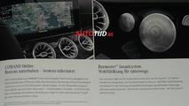 2018 Mercedes E-Class leaked brochure