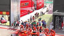 Paddock, a realistic recreation of the Ferrari motor homes at European F1 races, Ferrari World Abu Dhabi, 1600, 20.07.2010