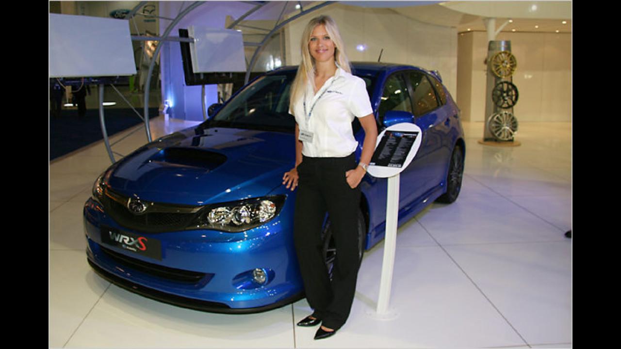 Dieser netten Dame würden Sie doch auch einen Subaru WRX-S abkaufen?