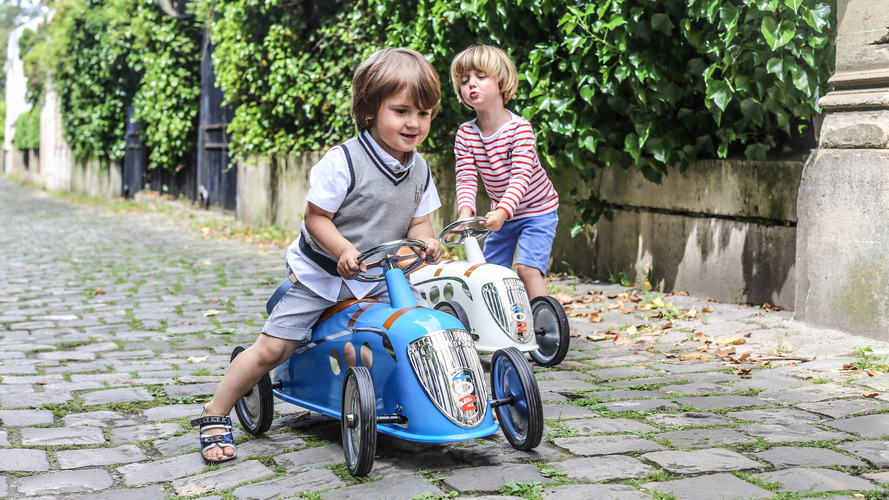 New toys let kids ride on classic Peugeots