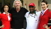 Branson leaves Abu Dhabi with AirAsia uniform