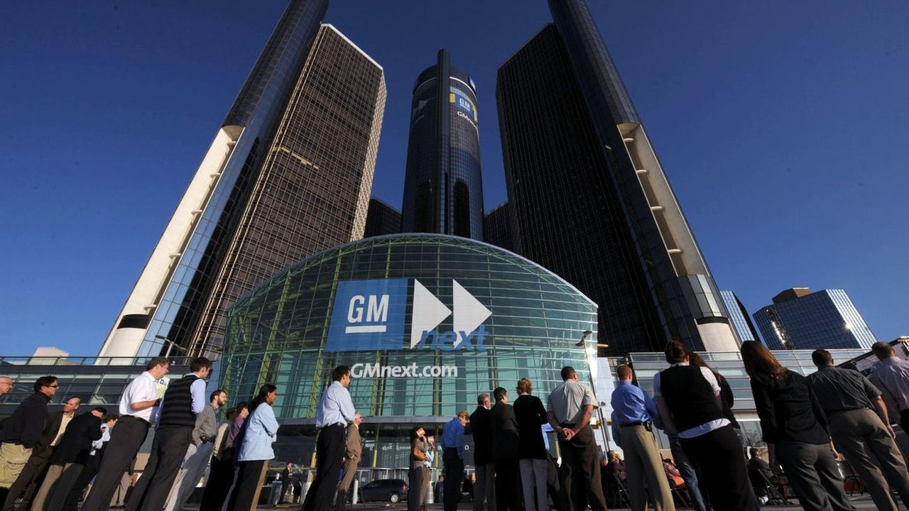 GM World Headquarters at the Renaissance Center in Detroit, Michigan