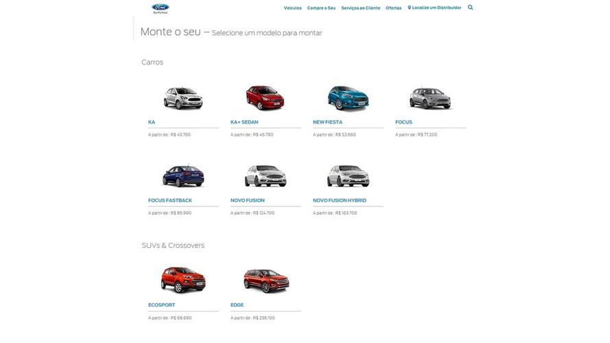 Ford - novo site
