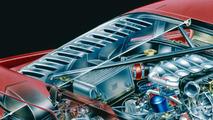 Ferrari F40 Prototype Cutaway