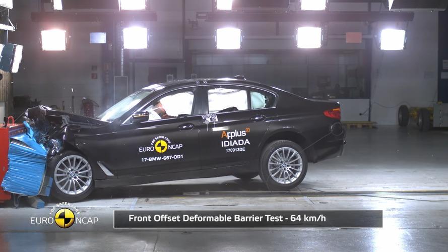 Különösen jó a gyalogosvédelemben: összetörték az új 5-ös BMW-t