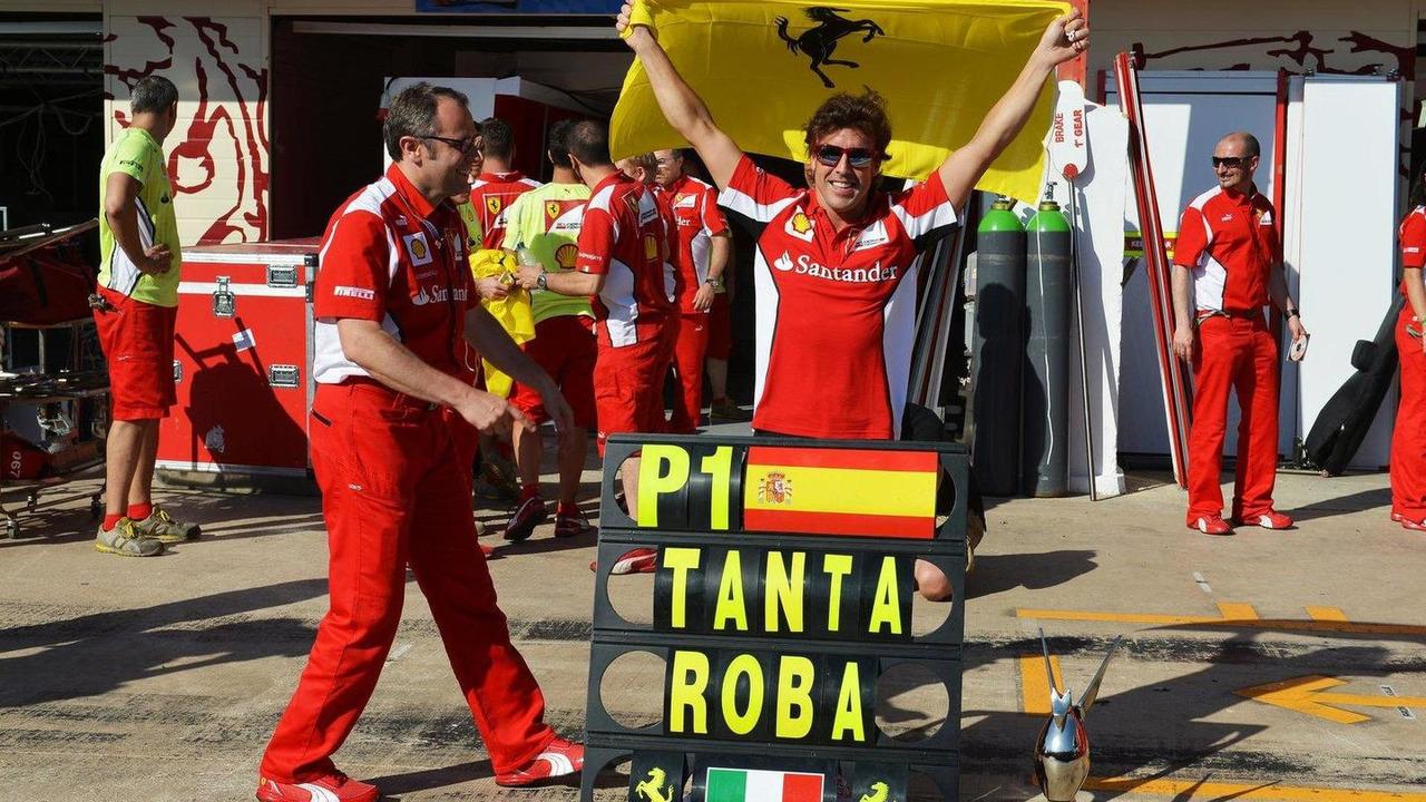 Fernando Alonso with Stefano Domenicali, European Grand Prix, 24.06.2012