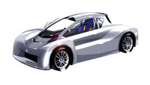 Mitsubishi i-MiEV Pikes Peak prototype design illustration 01.03.2012