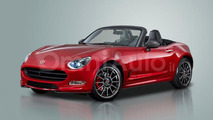 Fiat 124 Spider revival speculatively rendered