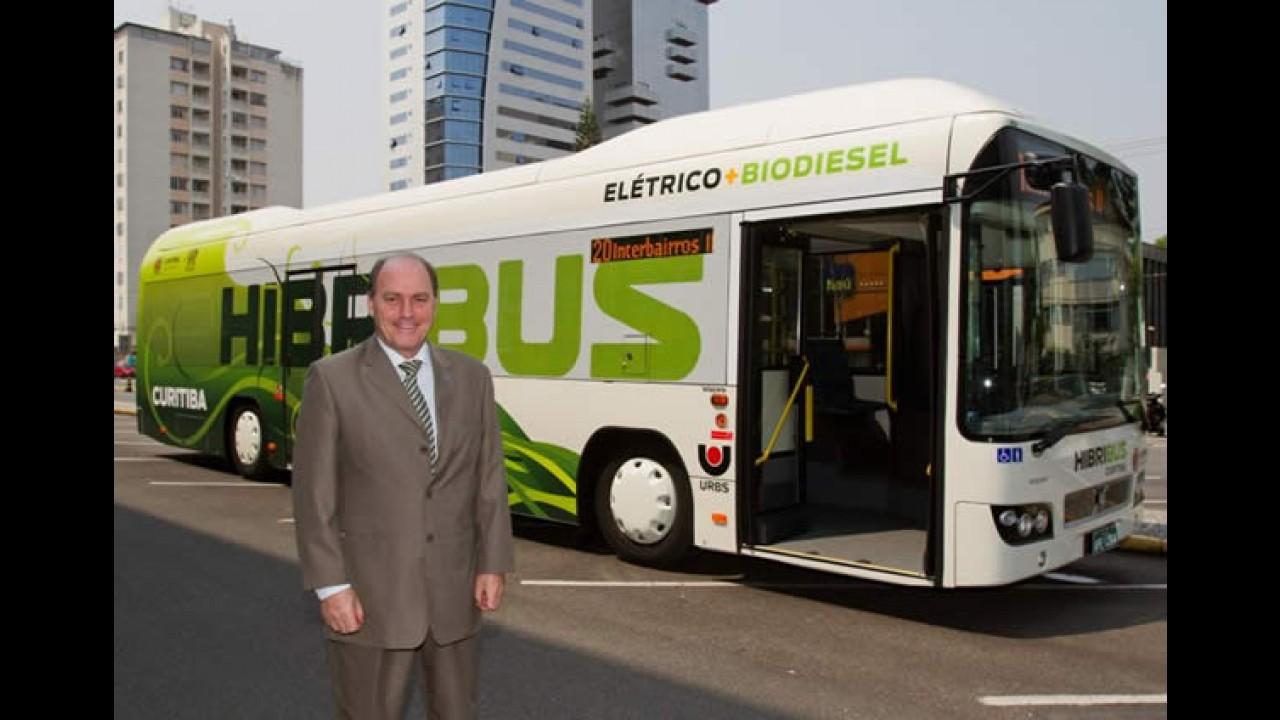 Volvo inicia testes de ônibus híbrido no Brasil
