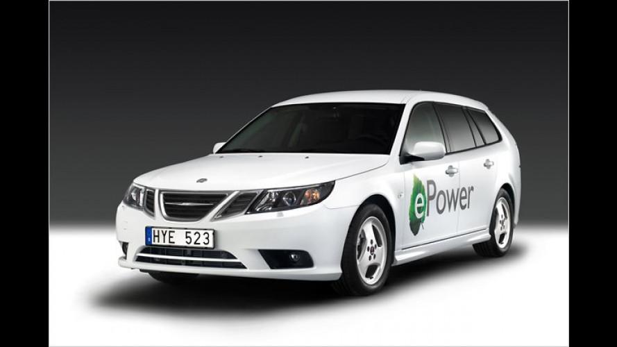 Paris 2010: Saab unter Strom