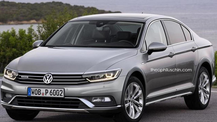 Volkswagen Passat Alltrack sedan rendered