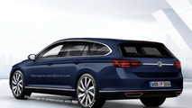 Volkswagen CC Shooting Brake render