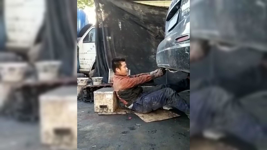 Poor Mechanic Gets Coal Rolled In The Face