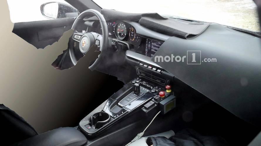 Next-generation Porsche 911 shows digital displays in spy pics