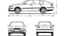 Skoda Octavia body dimensions