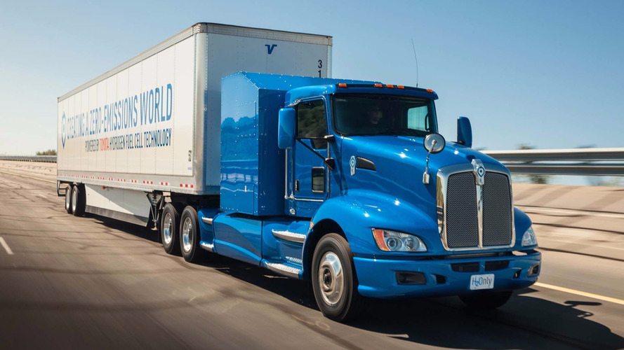 Toyota's Hydrogen Truck Smokes Class 8 Diesel In Drag Race Video