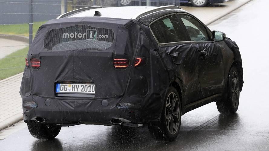 Flagra - Kia Sportage 2019 mostra parte do design traseiro