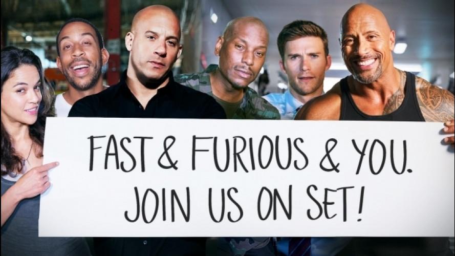 Fast and Furious 8, così si vince un giorno con gli attori [VIDEO]