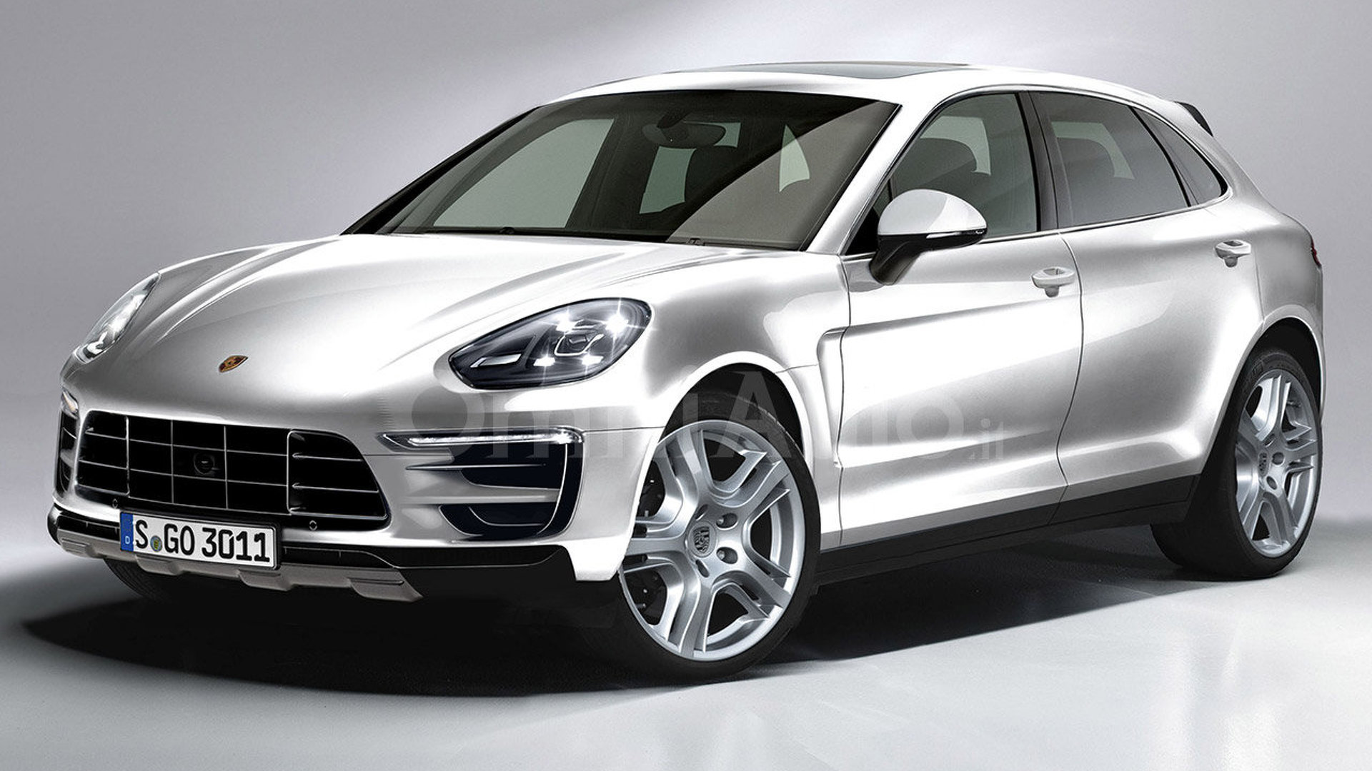 2017 porsche cayenne gets rendered. Black Bedroom Furniture Sets. Home Design Ideas