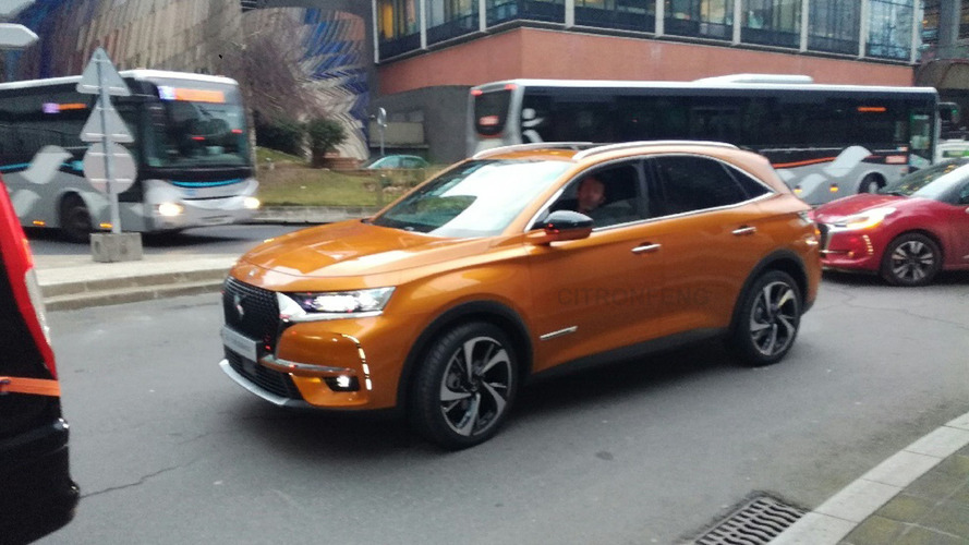 DS 7 midsize SUV spotted completely uncovered
