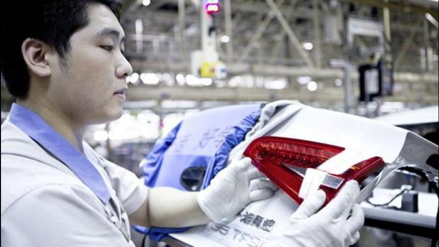 Nel 2013 la Cina produrrà più auto dell'Europa