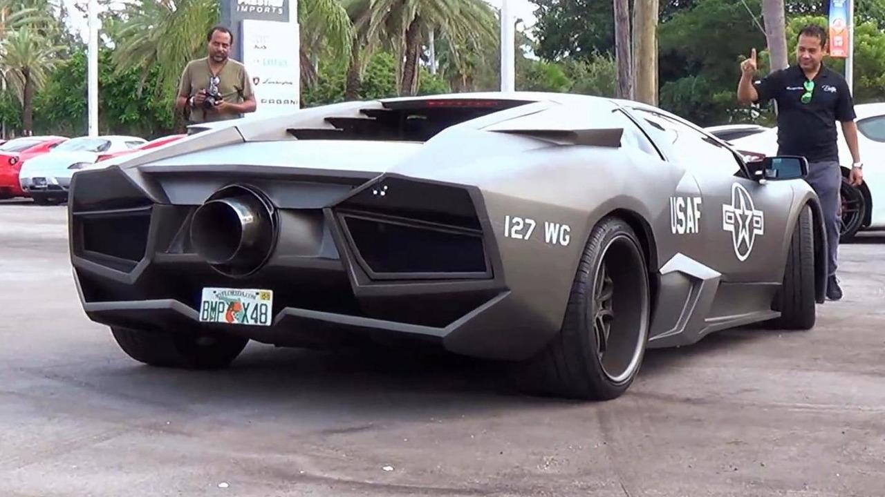Lamborghini Murcielago gets Reventon body kit and Top Gun theme