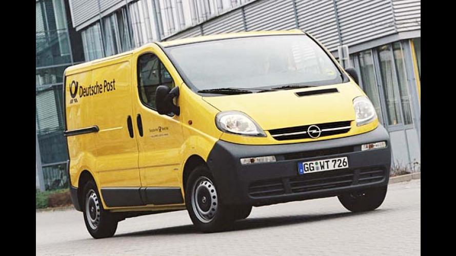 Post geht mit Opel ab: Ein Blitz auf dem gelben Wagen