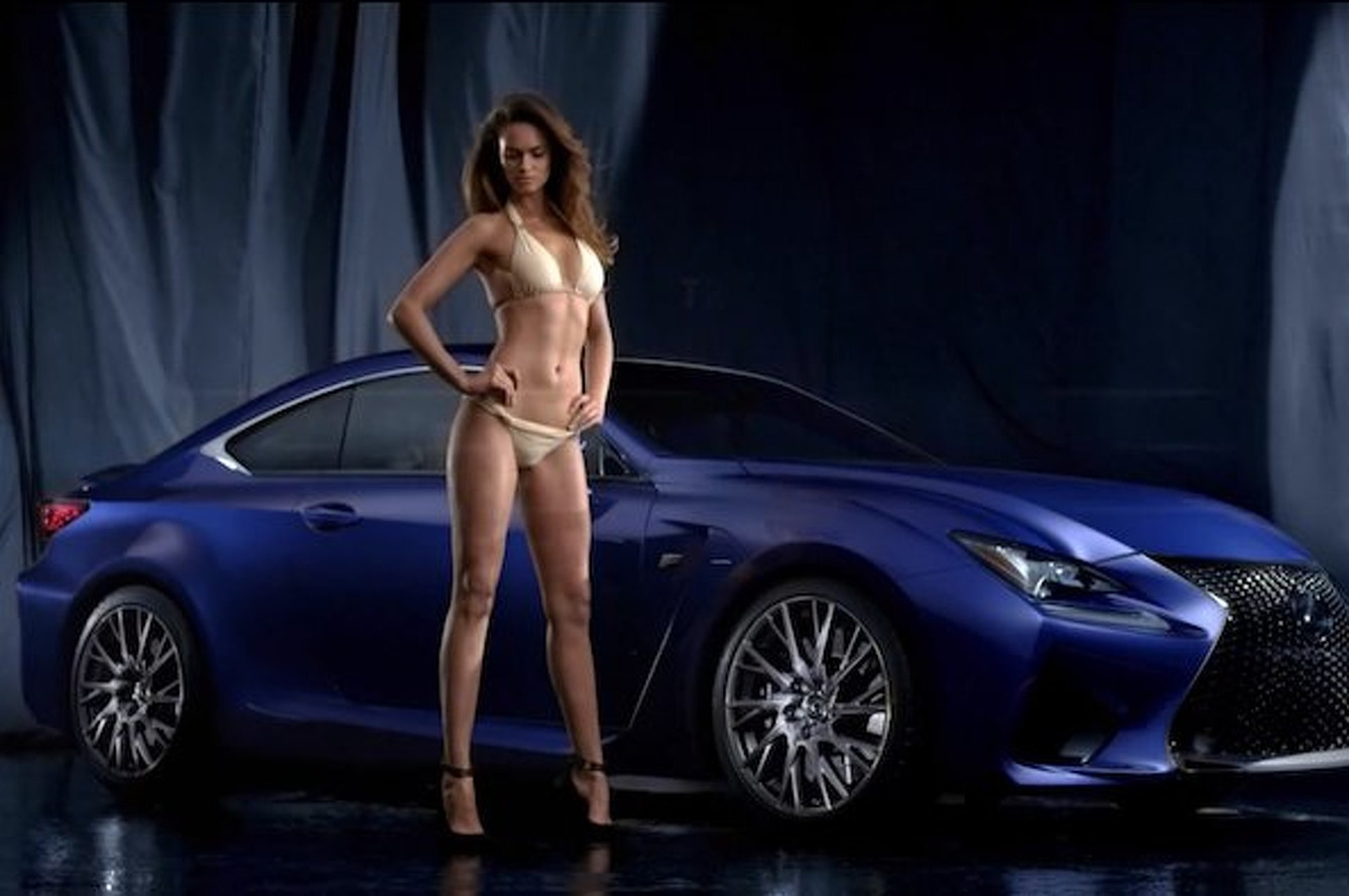 Lexus RC F Ad Features SI Swimsuit Model, Other Things [Video]